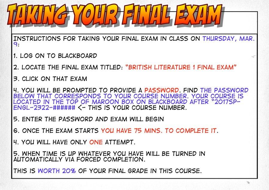 Taking Final Exam