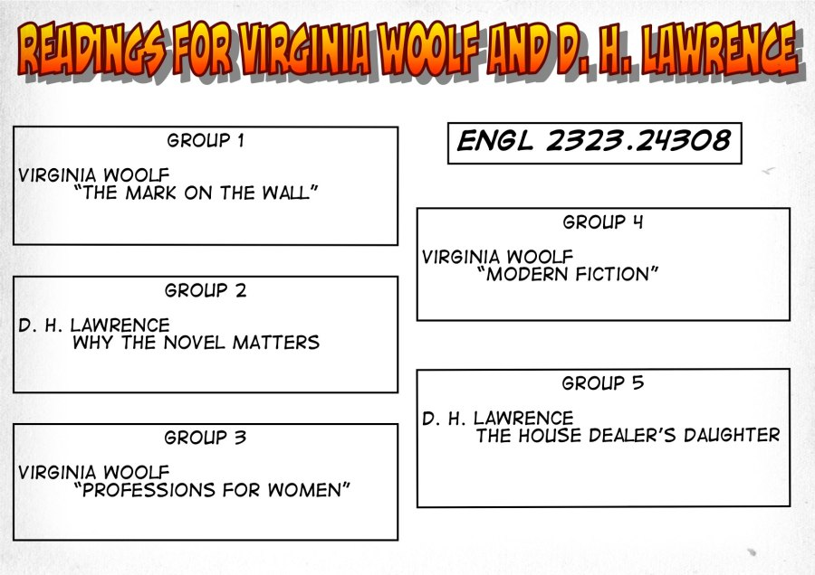 24308-Readings on Woolf and Lawrence