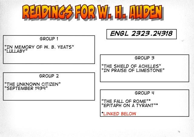 24318-Readings on Auden