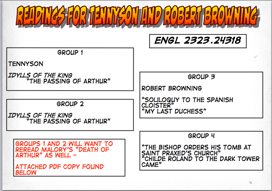 24318 Readings on Tennyson and R. Browning