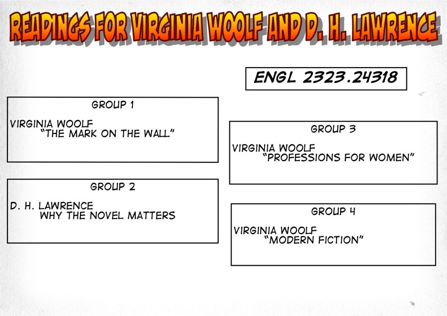 24318-Readings on Woolf and Lawrence